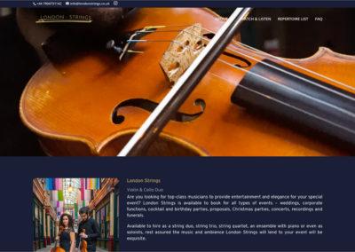 London Strings Website